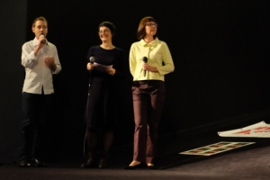 Mark Tutton, Nolwenn Mingant et Agnès Blandeau