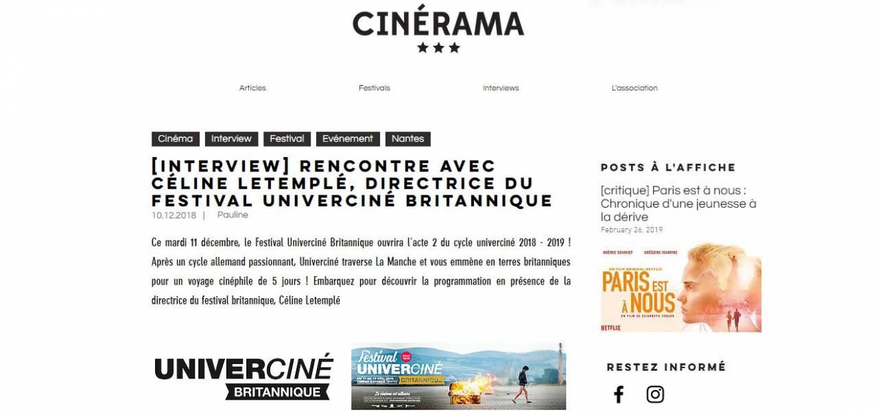 cinérama céline letemplé 2018/2019